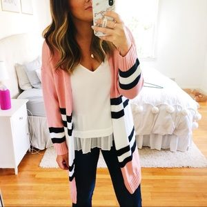 Sweaters - Colorblocked cardigan